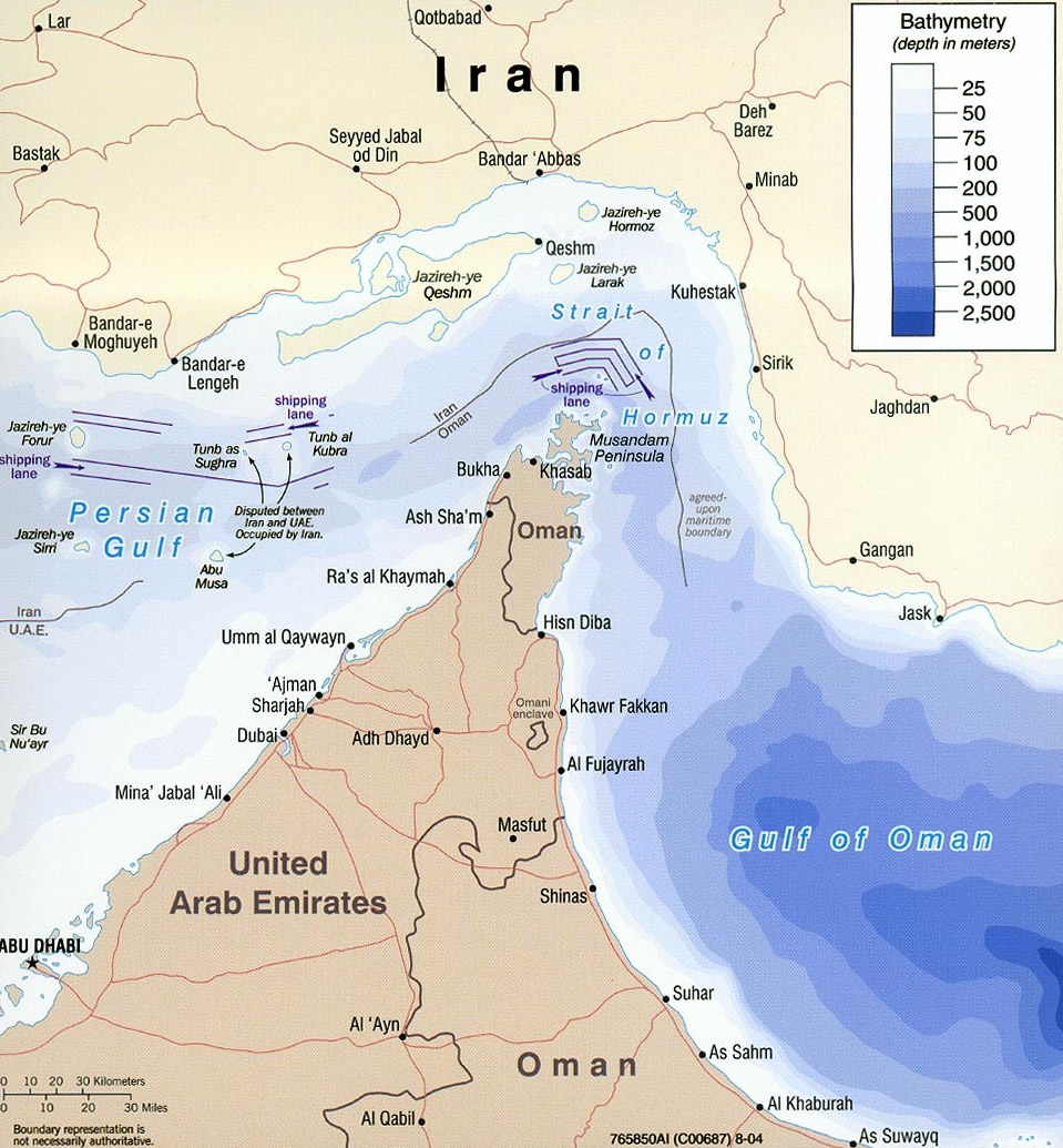 strait of hormuz. in the Strait of Hormuz