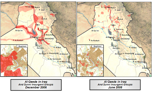 A graphic depiction of the impact of the surge on Al Qaeda in Iraq