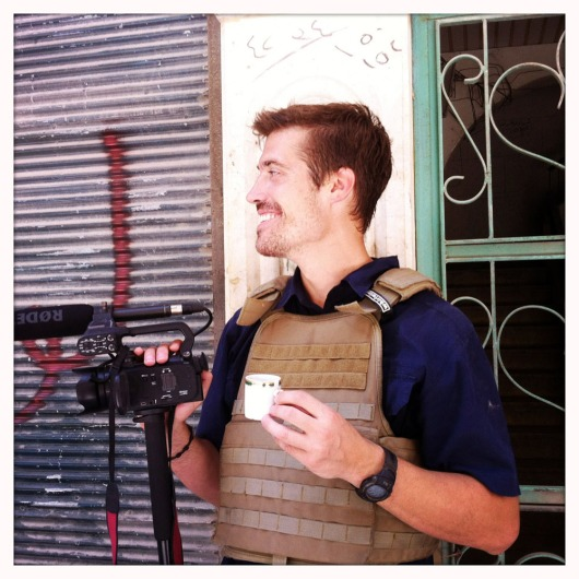 James Foley, held hostage in Syria since November 2012 by an as yet unknown gunmen who captured him near the Turkish border