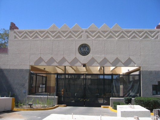 US embassy in Sanaa, Yemen