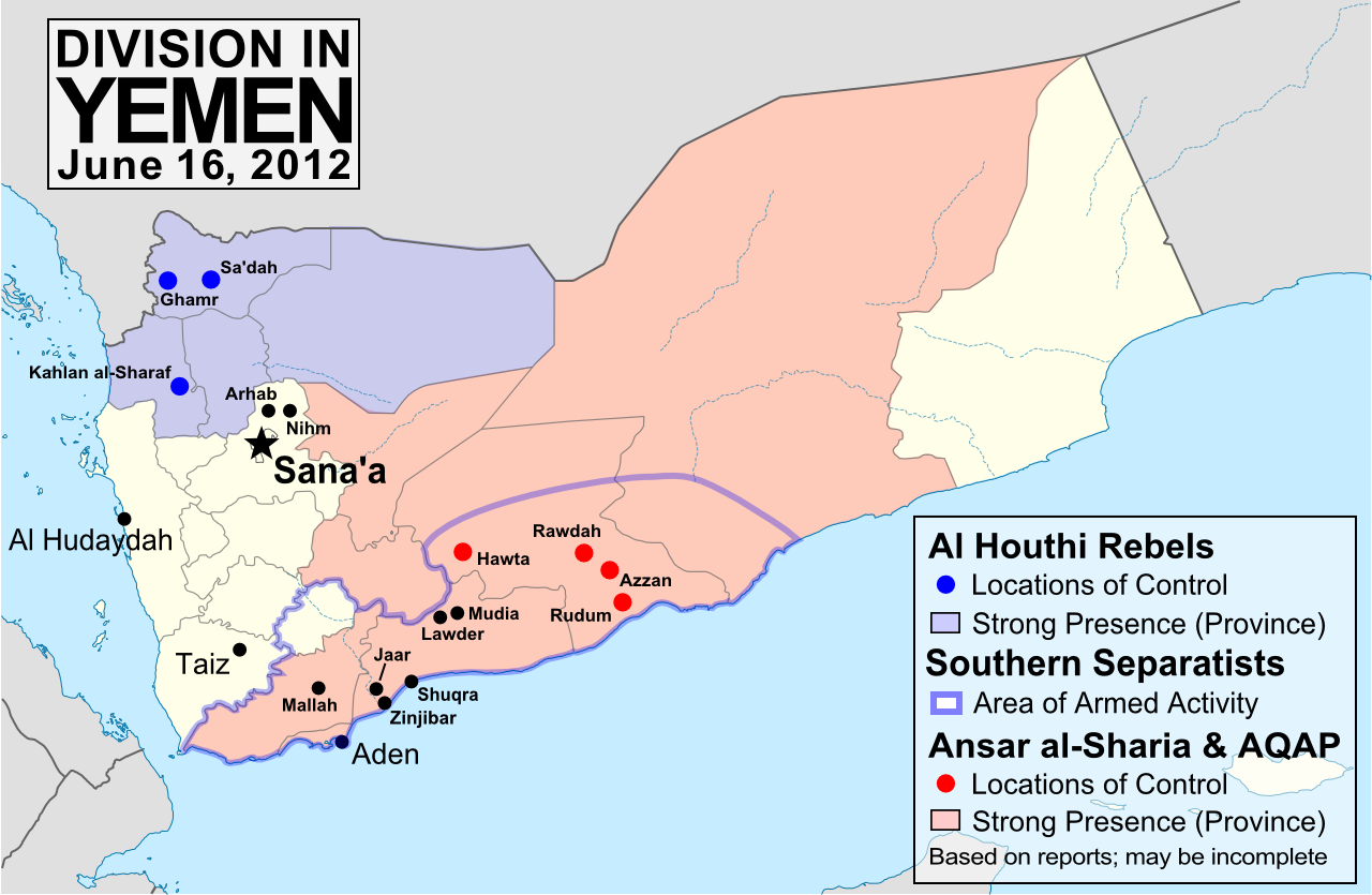 On The Run AQAP Kills In Islamikaze Attacks In Yemen Locals - Us embassy in yemen map