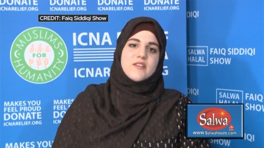 Noelle Velentzas...Note her affiliation with the Islamic Circle of North America (ICNA), one of the largest Islamic organizations in America