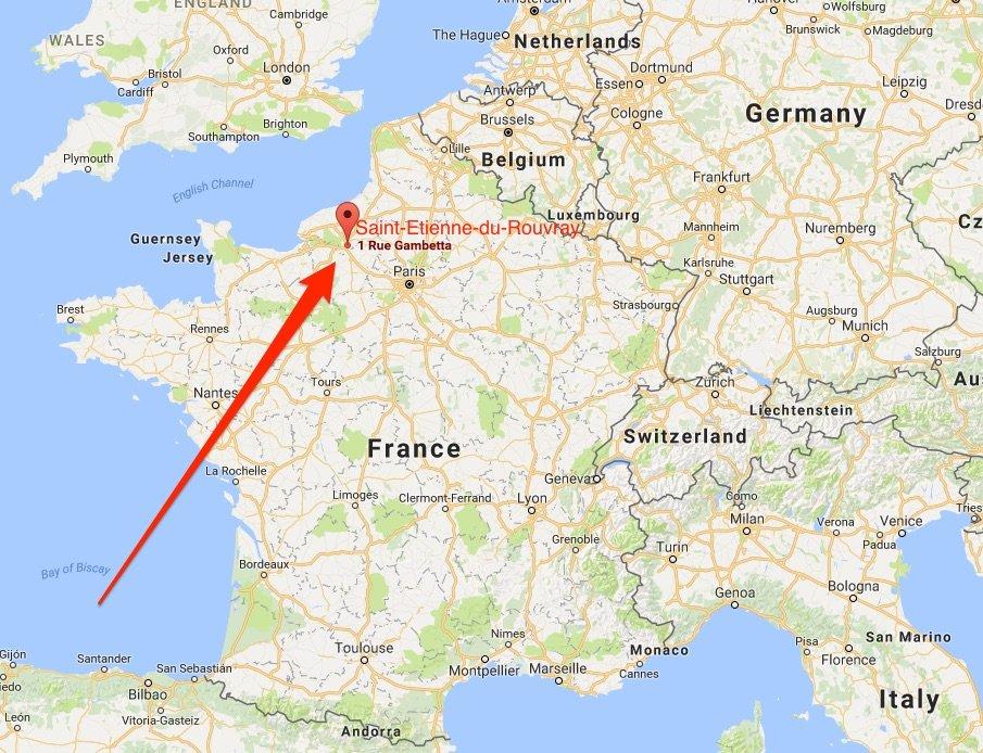 St Etienne Map map saint etienne du rouvray | Terror Trends Bulletin St Etienne Map